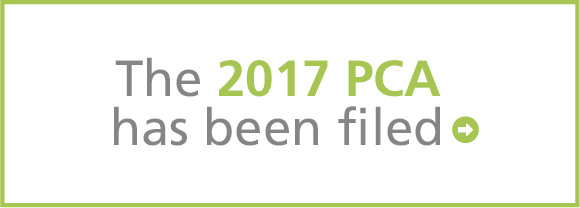 The 2017 PCA will be filed April 14